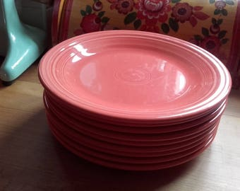 Fiesta ware Dinner Plates Persimmon 10.5'' inches Homer Laughlin