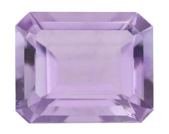 Pink Amethyst Octagon Cut Loose Gemstone 1A Quality 12x10mm TGW 4.30 cts.