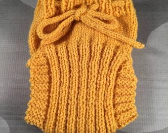 Custom Wool Soaker - Hand Knit Wool Soaker - Wool Diaper Cover - Diaper Cover - Yellow Wool Diaper Cover