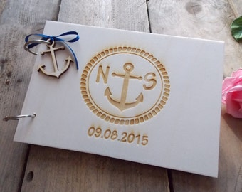 Wedding guest book 'Anquor' - Marriage, guest book, wedding decoration, wedding accessoires