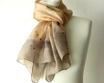 eco print scarf eco print silk leaf print scarf leaf scarf leaf silk scarf leaves scarf eco friendly scarf grey scarf salmon pink scarf