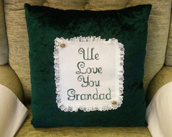 We love you grandad cushion
