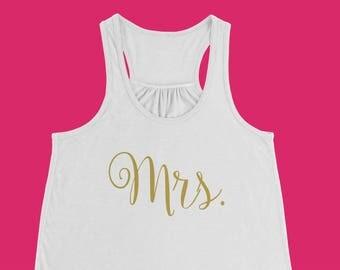 Mrs. Tank Top // Mrs. Tank // Bride Tanks // Bride Tank Sets // Bride Shirt // Bridal Shirt // Bride Gift // Engagement Gift // Bachelorette