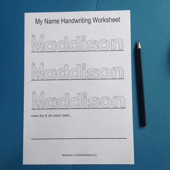 Personalisierte mein Name Handschrift Arbeitsblätter