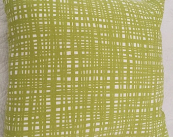 DECORATIVE PILLOW-Crossed Lime Green Pattern (J)