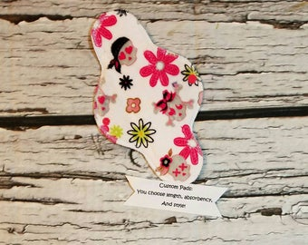 Custom Minky Topped Cloth Pad With Wings