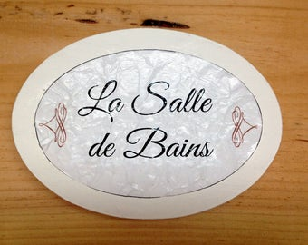 La Salle de Bain, french bathroom sign. french toilet sign, restroom signs, restroom plaques, washroom signs, french washroom,