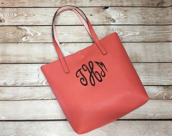Monogram Handbag, Monogram Purse, Monogram Tote, Monogram Bridal Gift, Monogram Bridesmaid Gift, Monogram Shoulder Bag, Personalized Handbag