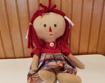 Raggedy Ann Doll- Patriotic
