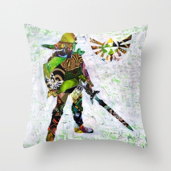 Legend of zelda pillow zelda decor zelda accessories link for Decoration zelda