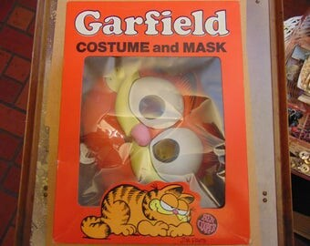 1978 United Feature Inc. Ben Cooper Brooklyn Halloween Garfield the cat mask original box