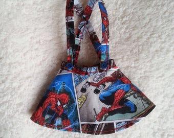 Made-To-Order - Minifee BJD Slim MSD Waist-High Suspender Skirt - Spiderman Comic-Strip Prints