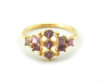 lavender sapphire ring