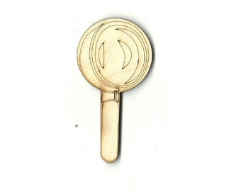 Magnifying Glass - Laser Cut Out Unfinished Wood Shape Craft Supply SNC2