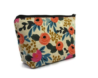Large Cosmetic Bag - Makeup Bag - Accessory Bag - Make up Bag - Toiletry Bag - Gadget Bag -  Jewelry Pouch Rifle Paper Co in Rosa