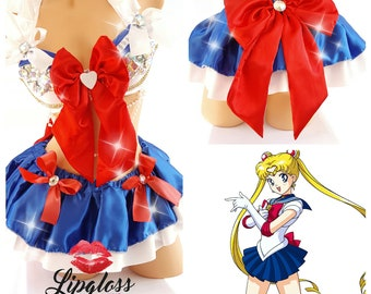 Sailor Moon Costume, Sexy Sailor Moon Costume, Adult Halloween Costume, Women Halloween Costume, Sexy Halloween Costume, Sailor Scouts