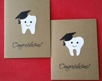 Tooth Graduation Congratulations Card-Dentist-Dental Assistant-Dental Nurse-Graduation Card-2017 Graduation