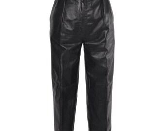 Vintage Estate AUTHENTIC Christian Dior Black Leather Pants
