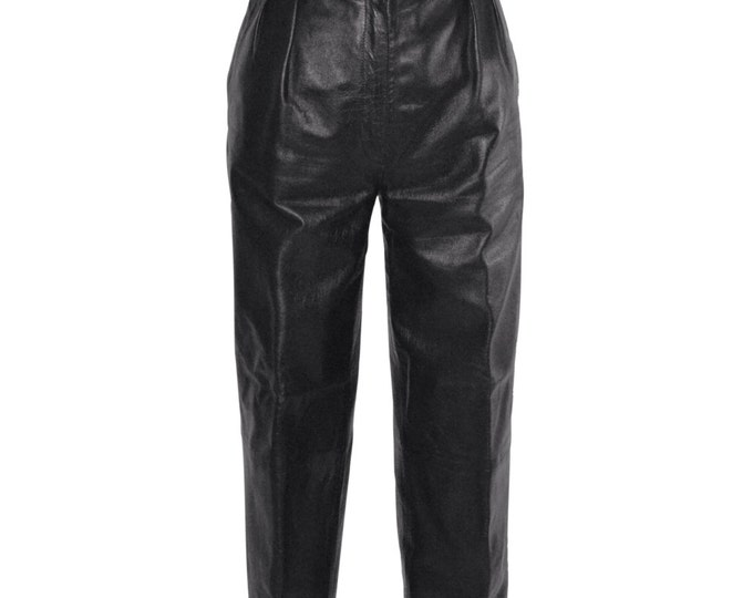 Vintage Estate AUTHENTIC Christian Dior Black Leather Pants