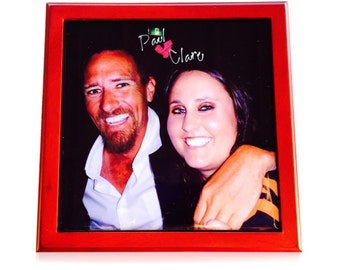 Custom Made Wooden Jewellery Box sublimation printed ceramic tile- your photo, Artwork, anything you want!