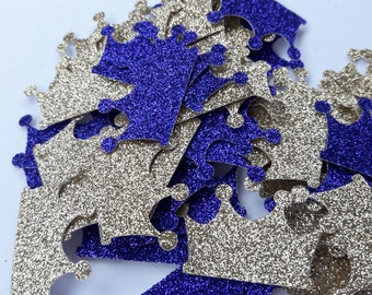 Royal Purple and Gold Crown Prince Confetti, Party Decorations, Birthday Crown, Princess Crown, Baby Crown, Baby Crown, Princess Baby Shower