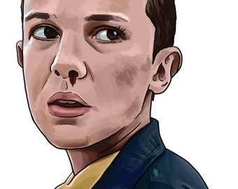 Eleven from Stranger Things A4 Print