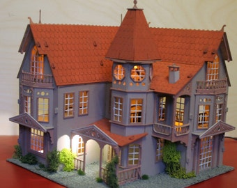 Miniature Fantasy Mansion Dolls House Kit
