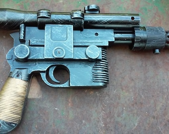 Han Solo Blaster Replica DL-44 w/Sound Custom Painted Star Wars Cosplay Prop Battlefront Empire Strikes Back