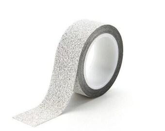 Washi tape, glitter, silver