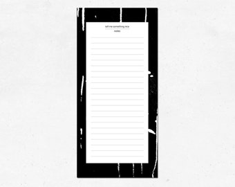 Notepad marble, black