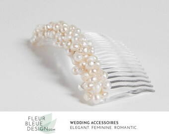 bridal hair comb | wedding hair jewelry | freshwater pearl hair comb | vintage bridal hair jewelry | ivory | bridal hair accessory