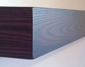 "54"" Long Floating Wall Shelf / Beam / Mantel / Box Shelf"