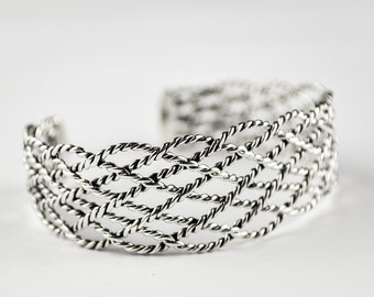 P45 Adjustable Bracelet Taxco Mexican 925 Sterling Silver Mexico