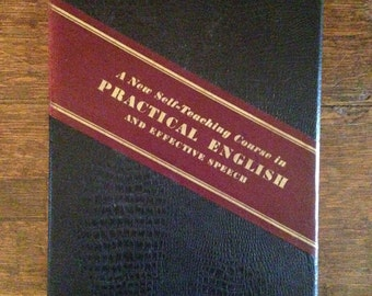 Self Teaching Course in Practical English and Effective Speech  Complete Set of 15 Lessons in a Box  Estelle B Hunter Like New 1936