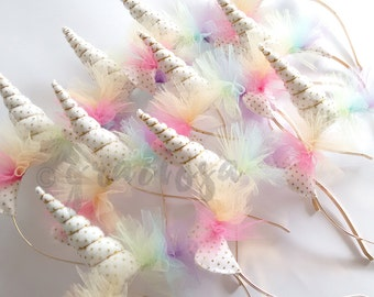 Unicorn Party Pack - Unicorn Headbands -  Unicorn Horns - Gold Unicorn Party Pack - 20% off