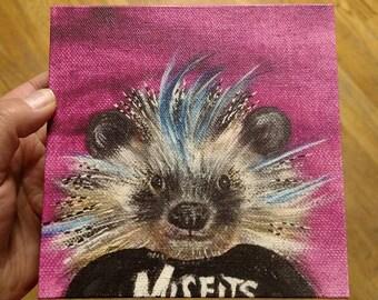 Hedgehog Misfits Fanimal gallery wrapped canvas print