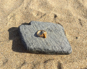 Size E Mookaite Jasper Gemstone wire wrapped Midi Knuckle ring