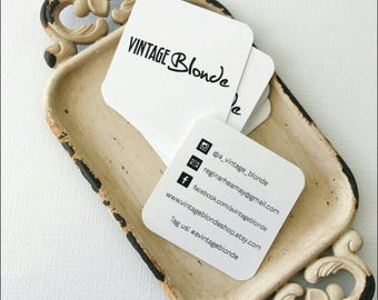 """Square 2.50"""" Business Cards Personalized For You PRINTED Standard Size on weight you choose We will add logo"""