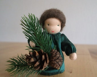 Pine : Waldorf inspired Flowerchild for Winter and Christmas