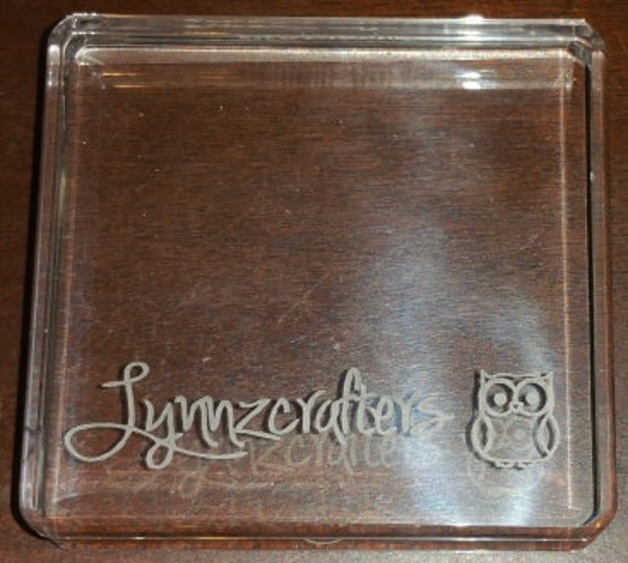 Custom Engraved Acrylic Blocks Personalized Your By