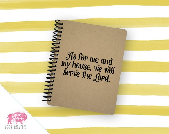 Spiral Notebook   Spiral Journal   Notepad   100% Recycled   Serve the Lord   BB043SM