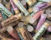 Wholesale Lip Balms - 50 Vegan Lip Balms - Natural Lip Balms - Shower Favor Gift Wedding Bridal Custom Label Bulk Chapstick