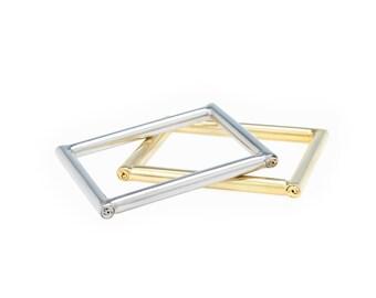 Bicolor Square Bracelets
