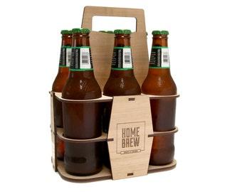 Home Brew Beer Carrier | Beer Caddy | 6 Pack Holder