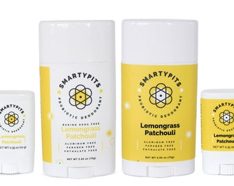 Deodorant: Natural, Probiotic-Infused, and Aluminum-Free [LEMONGRASS PATCHOULI SCENT]