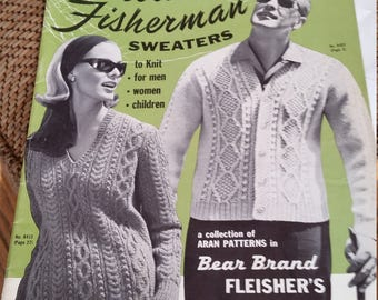 Fleishers Botany Yarns Aran Patterns Aran Fisherman Sweaters handknitting patterns, many great patterns