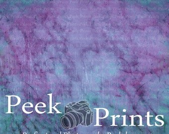 """Vinyl Photography Backdrops 5ft.x5ft. Marbled Color - Marble - Originally Hand Drawn- Print - Purple - Blue - """"Amethyst"""""""