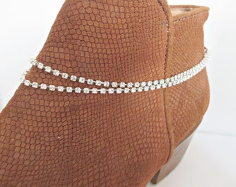 Boot anklet, Crystal boot chain, Boot bracelet, Boot ankle bracelet, Crystal boot anklet, Boot jewellery, Boot bling, Made in the UK