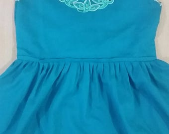Teal dress for girl from 2 to 3 years.  April promotion: free shipping within Mexico.