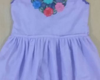 Lilac dress for girl from 2 to 3 years.  April promotion: free shipping within Mexico.